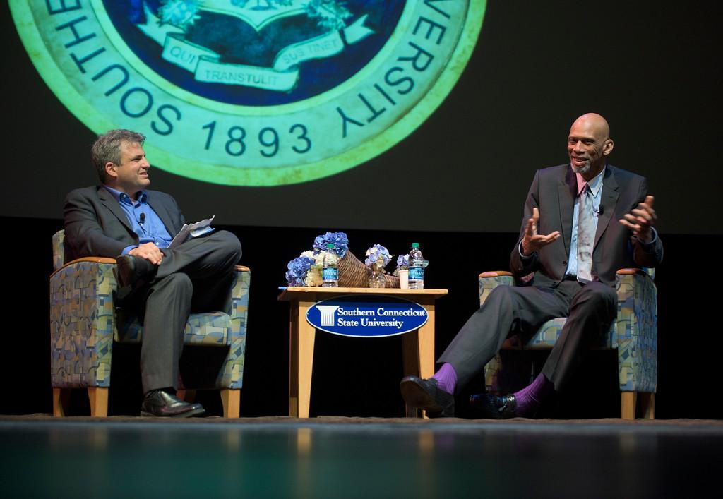 Kareem Abdul-Jabber speaks at SCSU