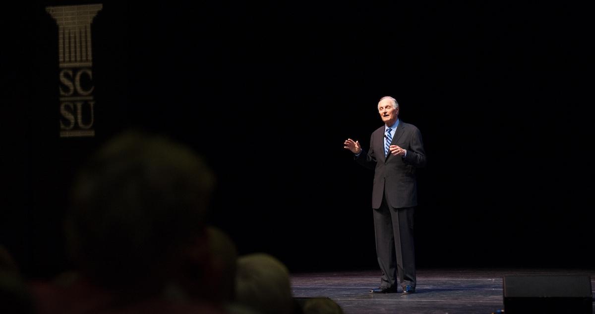 Alan Alda speaking at Southern
