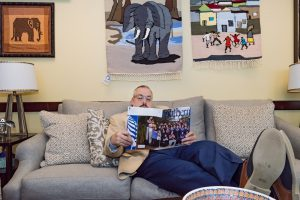 President Joe reading Southern Magazine