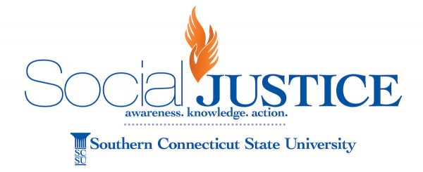 """""""Social Justice, Southern Connecticut State university logo"""""""